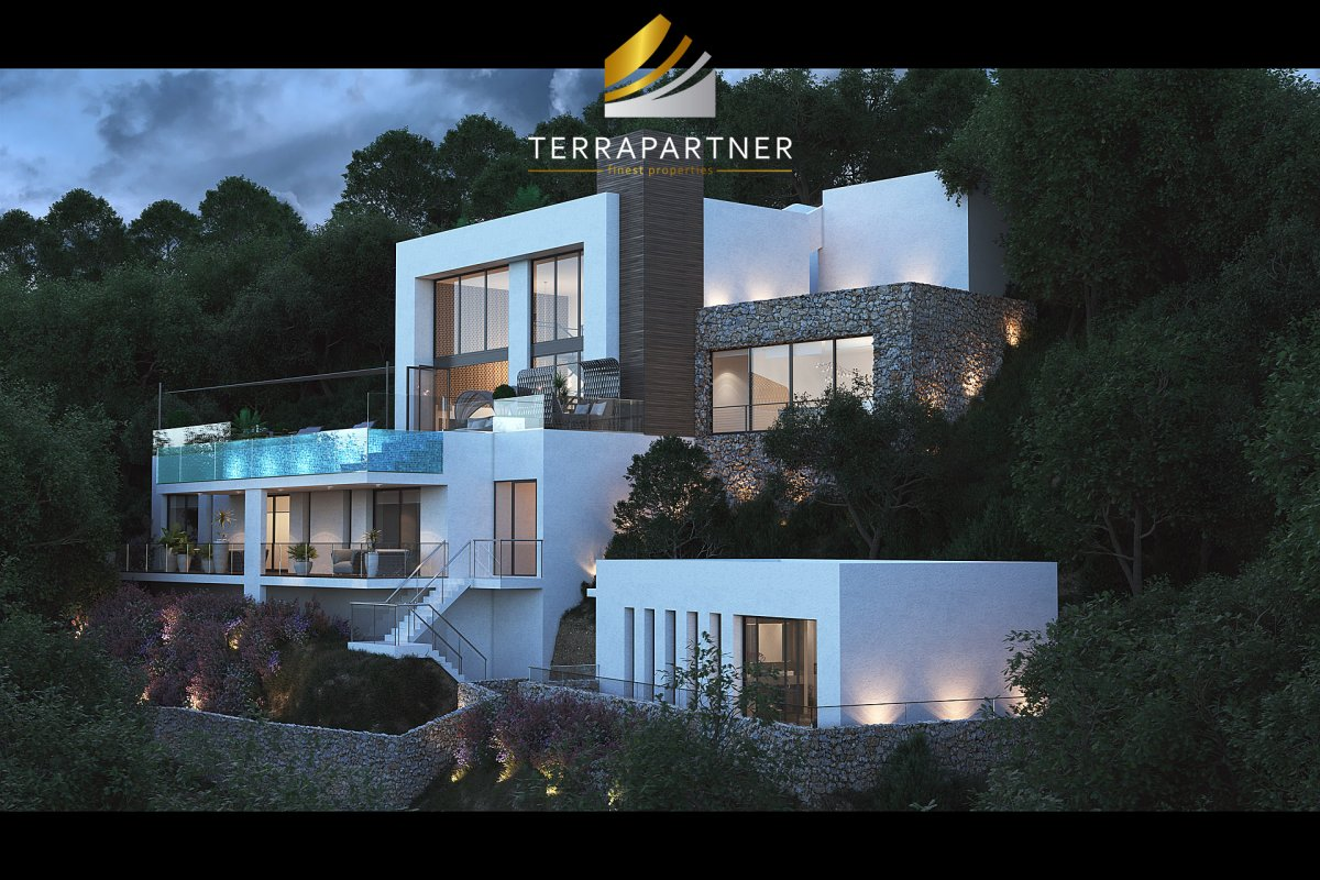 Luxury-Design-Villa with sea view and separate guest house